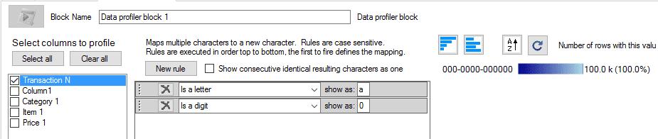data profiler block