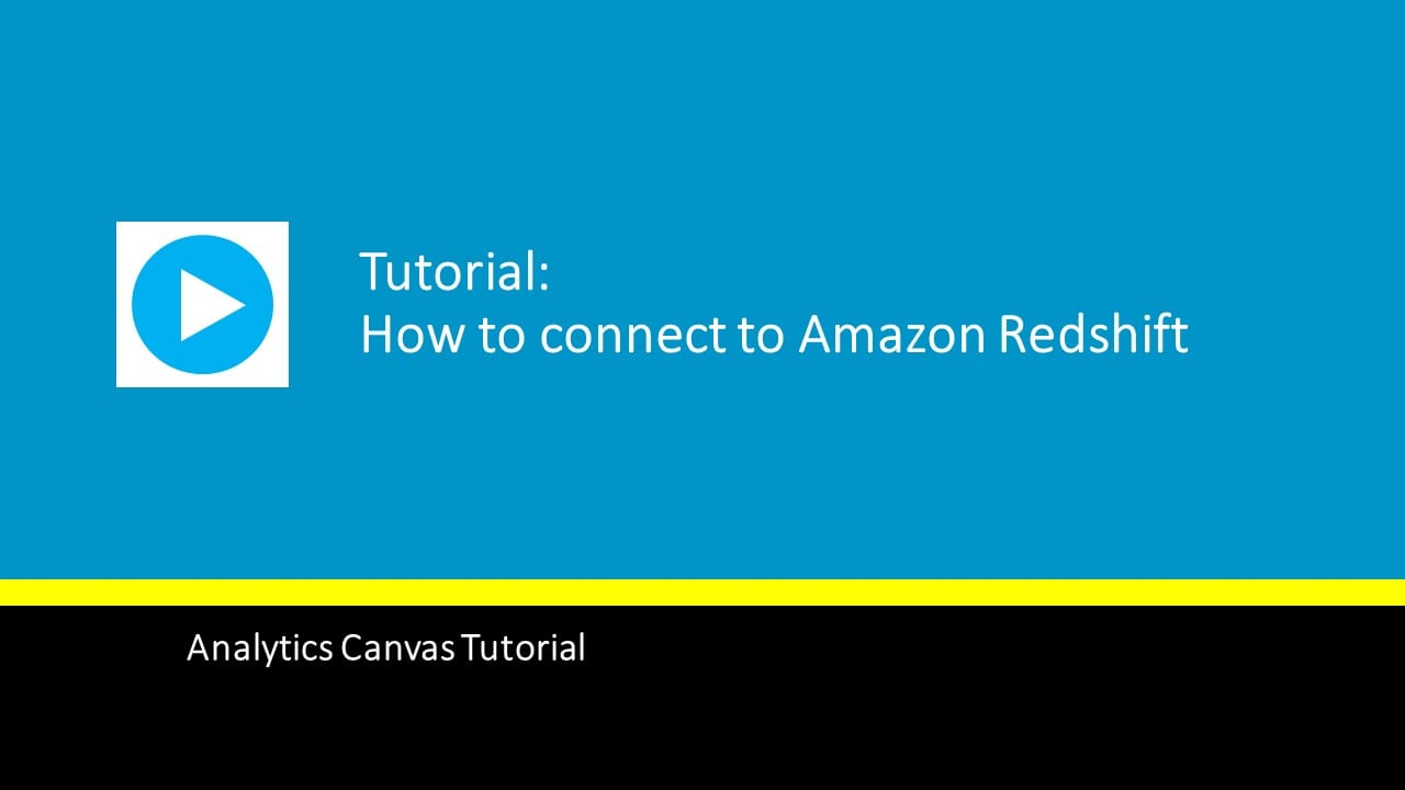 How to connect to Amazon Redshift