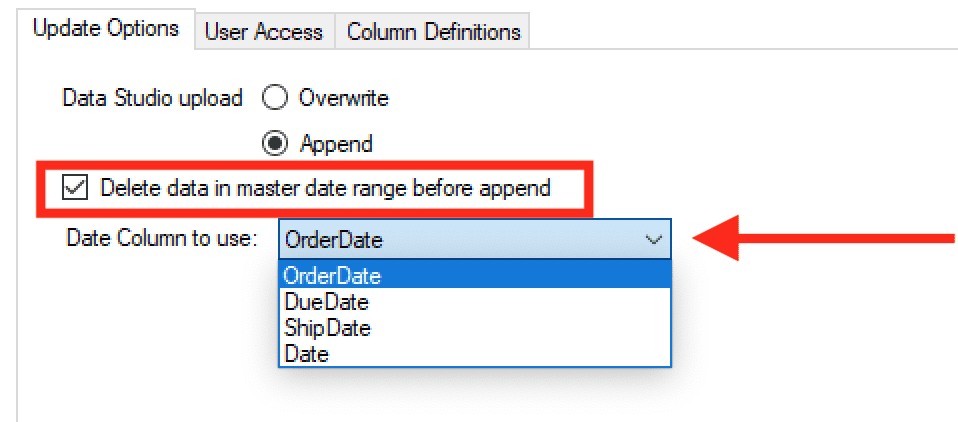 removing Google data studio row limits using date based incremental load
